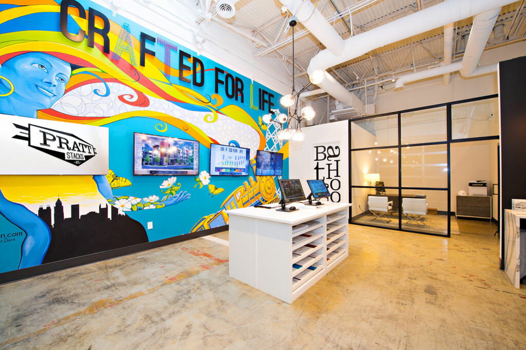 Pratt Stacks Brand Experience Center | Designed by Clementine Creative Agency | Atlanta, GA