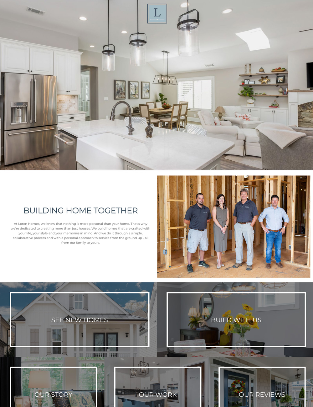Loren Homes Website
